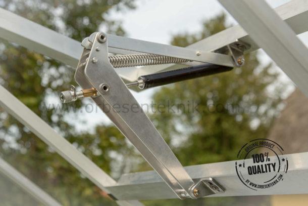 Vent window opener for greenhouses automatic Megavant